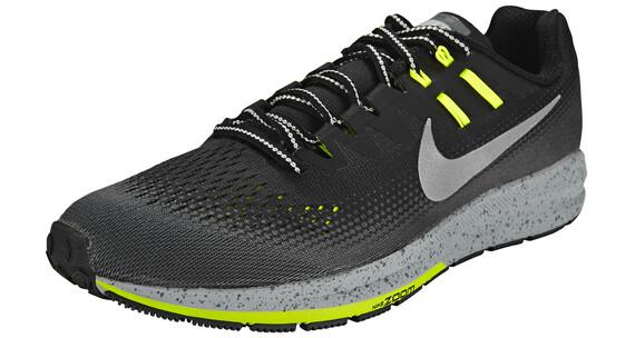 Nike Air Zoom Structure 20 Shield Running Shoe Men Black/Metallic Silver-Darkk Grey